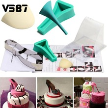 Fondant Cake 3D Silicone Stilleto High Heel Mould Lady Shoe Mold For Wedding Cake Decoration for DIY Home Bakeware
