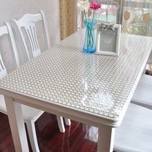 16 colors Soft Glass Transparency PVC Table Cloth Waterproof Party Wedding Home Kitchen Dining Placemat Pad Thickness 1.0mm