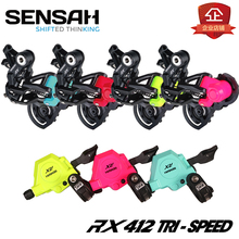 Free shipping NEW SENSAH BMX Shift Lever (1*3-speed)  MTB Bike Bicycle Derailleurs Speed Trigger Shifter colour 412 folding bike