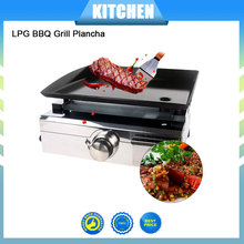 Churrasqueira a gas LPG 1 Burners Warehouse Plancha BBQ Grill Gas Griddle Outdoor Machine Steak Cooking Plate(China)