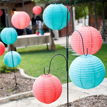 Round Chinese Paper Lantern lamp Lights ball 20cm 25cm 30cm Wedding Home Party decoration Baby Shower Favors Supplies mint(China)