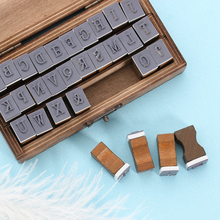 30PCS/Set New Romantic Capital Letter Vintage Wooden Craft Box Alphabet Stamp Rubber Uppercase Multipurpose Stamps