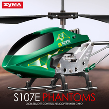 New SYMA S107E 3CH 2.4GHz Indoor RC Helicopter Alloy Strong Anti-shock Remote Control Vertiplane Gift for Baby Teens