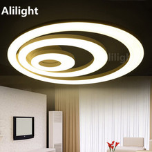 Modern Led Ceiling Light Luminaire Circle Ring Ceiling Lamp Fixture for Living Room Bedroom 2/3 Rings Indoor Lighting Decor Lamp