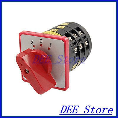 LW6-3 AC 380V 3 Positions Red Rotary Handle Universal Switch<br><br>Aliexpress