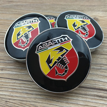 20pcs 60mm Abarth logo car Wheel Center Hub Cap Wheel Badge emblem covers for 124 125 125 500 695 OT2000 Coupe(China)