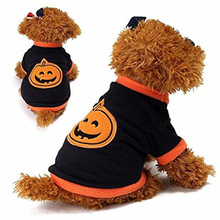 FameBeaut Halloween Pumpkin Dog Costume Novel Pumpkin Pet Coat Fleece Dog Clothes Small Dog Super Cute Costume Fancy Pet Clothes