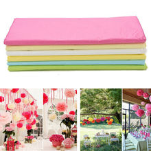 Mix Colors 10 Sheets Tissue Paper Flower Wrapping DIY Crafts Materials Birthday Curtain Marriage Car Party Wedding Decoration