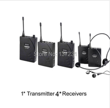 Wireless Acoustic Transmission System Tour Guiding Simultaneous Translation Audio-visual Eduation 1 Transmitter and 4 Receivers