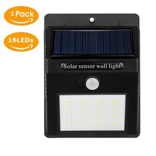 16LED Solar Light Solar Panel Power PIR Motion Sensor LED Garden Light Waterproof Outdoor Pathway Sense Solar Lamp ABS Walllight