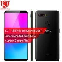 "NEW ZTE Nubia Z18 mini Mobile phone 5.7"" 6G RAM 64G ROM Octa Core 24MP+5MP Dual Rear Camera 19:8 Full Screen Fingerprint Phone"