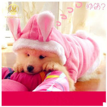 New Cute Pet Dog Clothes Rabbit Easter Bunny Costume Hoodie Cat Coat Fleece Puppy Warm Dressing Up Outfit Clothes for Dog