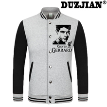 DUZJIAN World Cup Steven Gerrard thick velvet baseball uniform men's Jackets camiseta youth jackets barcelonae kids tracksuit