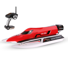 Mini RC Boat WL915 2.4Ghz 2CH Electric Brushless High Speed F1 Racing Boat Radio Remote Control Boats for Kid Toys Model(China)
