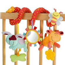 Baby Mobile Rattle Infant Toys Animals Bed Hang Baby Plush Toy Soft Toys For 0-12 Months -- BYC010 PT15