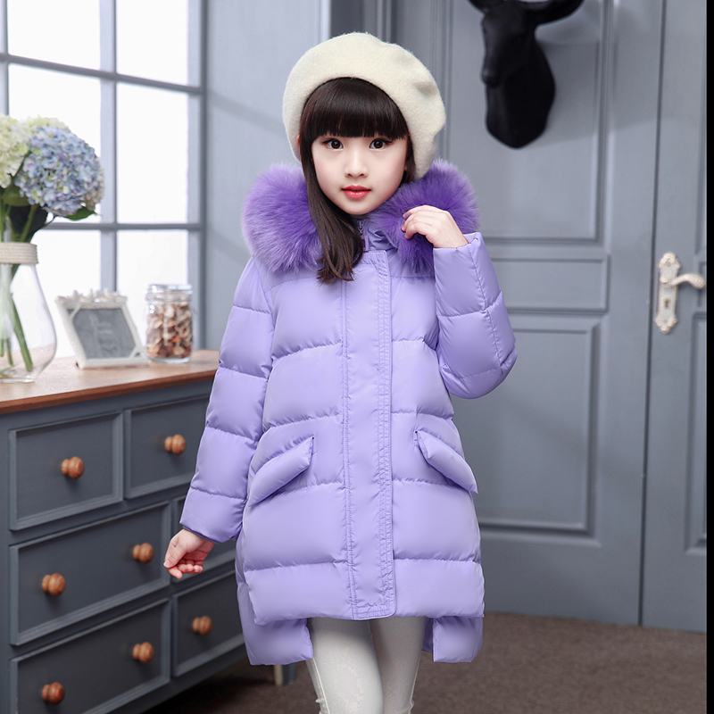 2017 New Winter Girls Down jackets/coats Russia Childrens Coats thick duck Warm jacket Children Outerwears -30degree jackets<br>