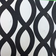 synthetic PVC black and white Spiral circle printed leather material(China)