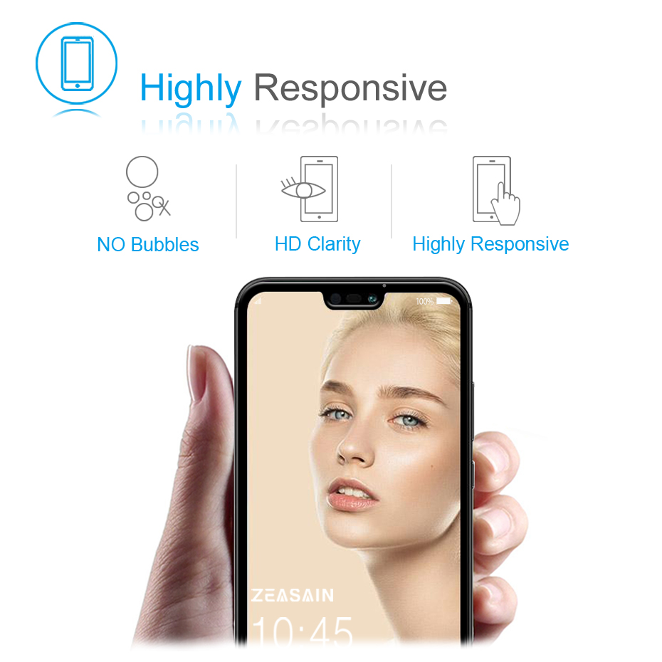 Original ZEASAIN Full Cover Tempered Glass for Huawei P20 Lite P20Lite Huaweip20 Lite Screen Protector 9H 2.5D Safety Glass Film (4)