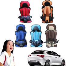 Adjustable Portable Baby Safety Car Seat Kids Chairs Safe Toddler Booster Seat 5 Colors Children Infant Cotton Safe Car Seats