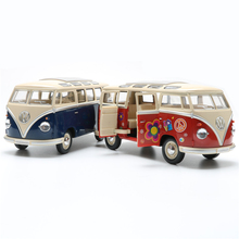 KINGSMART 1962 Volkswagen 1:24 Scale Diecast Bus Toys Onibus, Door Openable Model Car Toy For Collection / Gift(China)
