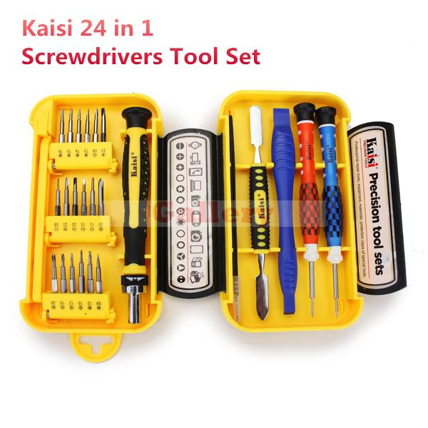 24 In 1 Precision Cell Phone Home Appliances Repair Screwdrivers Tweezers Tools Set Hand Leather Unlocked Cell Phone Hand Tools<br>