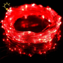 led strip 20/30/50/100 leds Silver Wire Fairy With 12V 1A Power Adapter LED Strip For Home Furnishings Room Decoration Light(China)