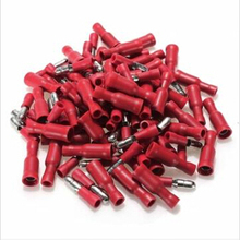 100pcs Red Insulated Female&Male Bullet Butt Connector Crimp Terminals(China)