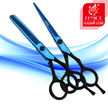 2pcs 5.5 6.0 inch professional hair scissors set cutting and thinning shears home and barber shop beauty salon tools(China)