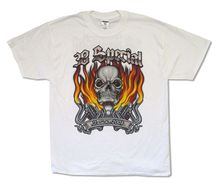 38 Special Skull & Flames Tour 2007 White T Shirt New Official(China)