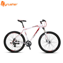 "Cyrusher XF300 24 Speed Large Size Light Weight 27.5""x19""-21"" Aluminum Frame Fast Mans Mountain Bike Mechanical Disc Brake(China)"