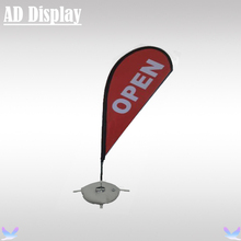 2.8m Economical Advertising Beach Flag Teardrop Flying Banner Stand With Single Side Printing,Outdoor Promotional Display