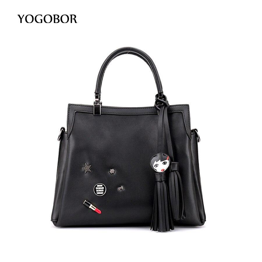 2017 Tassel Women Messenger Bags PU Leather Lipstick Womens Shoulder Bag Crossbody Bags Famous Brand Popular Ladies Handbags<br>