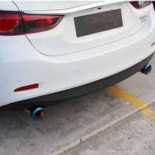 car styling New 2pcs Chrome Stainless Steel Exhaust Pipe Tailpipe For Mazda Axela Hatchback / Mazda 6 CX 5 CX-5 Atenza