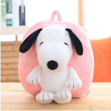 New Arrival Animals Kids Baby Bags Plush Kindergarten 3D Dog Plush Backpack For Girls Cute Cartoon Bags WJ387