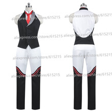 D.Gray-man Allen Walker Cosplay Costume Anime Custom Made Uniform