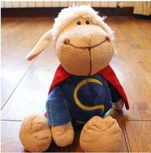 Free Shipping  27CM, 35c,50CM  Superman Sheep Plush Toys Stuffed Animal Baby Dolls Gift For Children