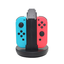 Joy-Cons Charging Dock Vorida Charger Stand With Indicator Light Thumb Stick Caps Easy Install Operation for Nintendo Switch(China)