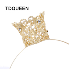 TDQEEN Matte Golden Crown Design Headband Wedding Hair Accessories Hair Band Hairpins Tiara Crown Bridal Jewelry for Women NEW(China)