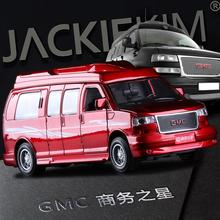 High quality high simulation 1:32 alloy pull back car,Cadillac GMC General Business Star MPV,metal model cars toy,free shipping(China)