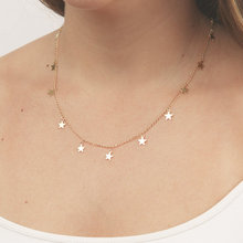 Fashion Women Jewelry Natural Alloy The Five-pointed Star Pendant Necklace Woman Choker Necklaces XL7028