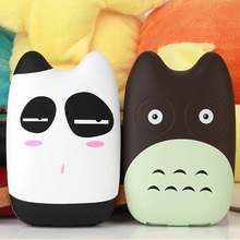 cute cartoon totoro Power Bank Real 8000mAh Dual USB portable charger external Battery Backup powers For All Phone