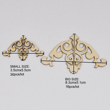QITAI Family Retro Decorations Wood Birdcage Two Sizes Embellishment DIY Craft Products WF072