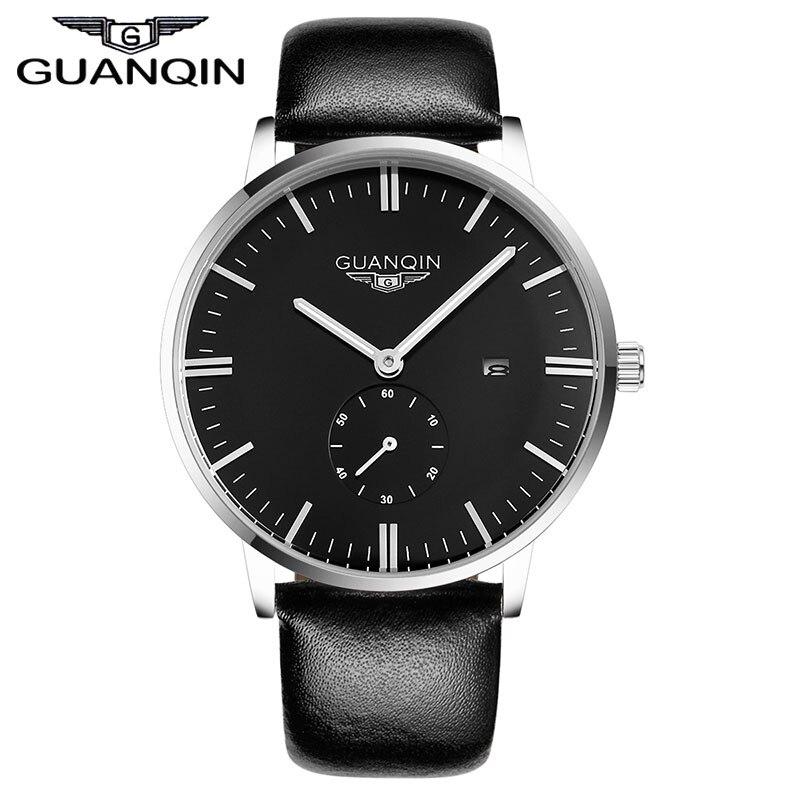 Watches Men Original GUANQIN Fashion Quartz Luxury Brand Casual Watches Leather Strap 100m Waterproof Men Wristwatch relogio<br><br>Aliexpress