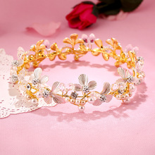 Factory direct explosion crown gem suit Europe alloy earrings bride's hair headband hair wholesale