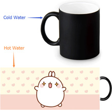 Molang rabbit Magic Mug Custom Photo Heat Color Changing Morph Mug 350ml/12oz Coffee Mug Beer Milk Mug Halloween Gift