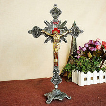 Standing Crucifix Table Altar Church Cross Catholic Religious Home Decor