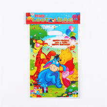 10pcs/lot New Winnie the Pooh Gift Bags Kids Birthday Party Loot Bag Supplies Plastic Children Candy Bag