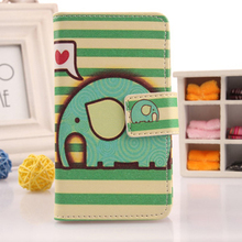 LINGWUZHE 6 Patterned Book Style PU Leather Flip Cover Cell Phone Case For Digma First XS350 2G
