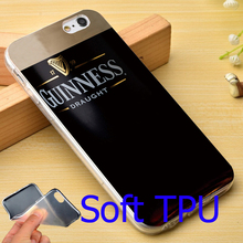Guinness Beer Print Logo TPU Phone Case for iPhone 5S 5 SE 5C 4 4S 6 6S 7 Plus Cover ( Soft TPU / Hard Plastic for Choice )