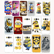 2730G cute lovely Minions Design Hard Case for Samsung Galaxy A3 A5 A7 J3 J5 J7 Grand 2 J3 J5 Prime 2015 2016 2017